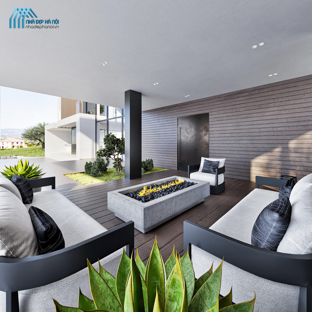 Thiết kế nội thất biệt thự Vinhomes Gardenia hiện đại tinh tế và trang nhã