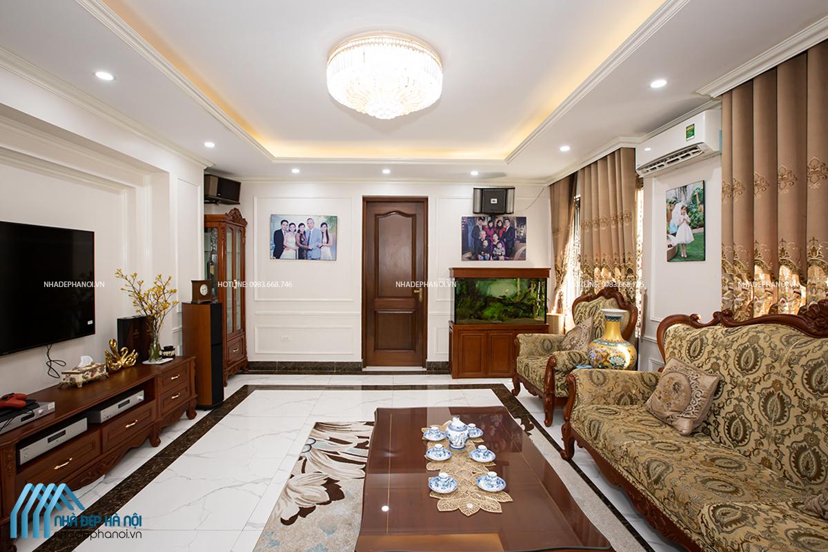"""Thiết kế nội thất nhà phố """"Tân cổ điển"""" tại Tô Hiệu, Hà Đông sang trọng, đẳng cấp"""