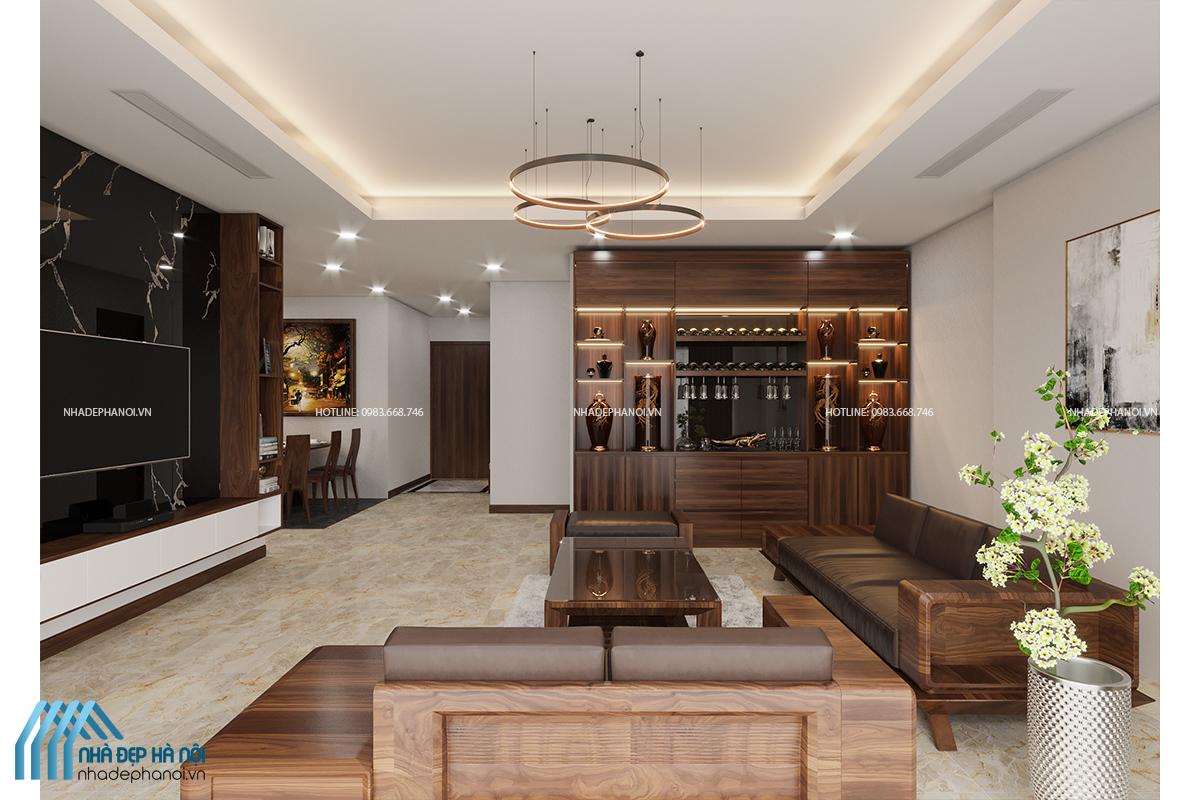Giới thiệu mẫu thiết kế nội thất phòng khách đẹp, hiện đại chung cư Green Park.