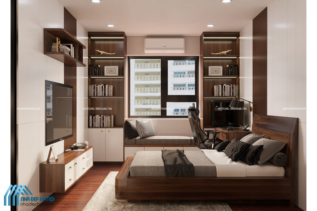 Thiết kế phòng ngủ chung cư thông minh, tinh tế tại Green Park.