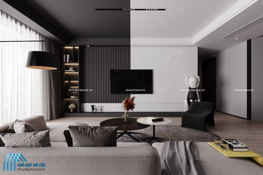 Phong cách thiết kế nội thất tối giản cho nhà phố tại Láng Hạ, Hà Nội