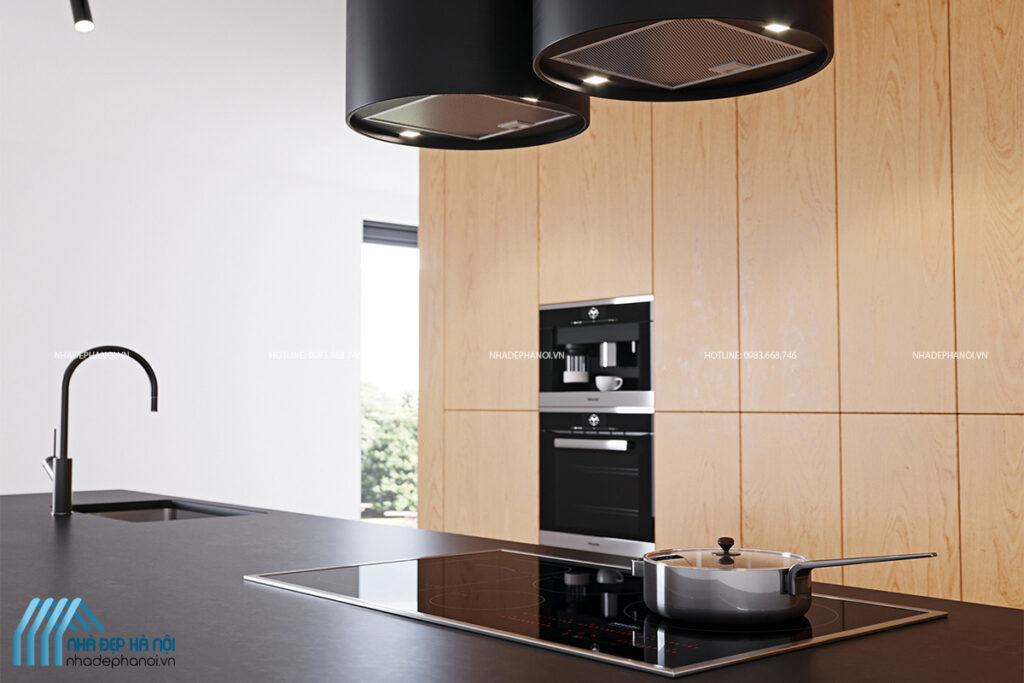 Thiết kế bếp đẹp hiện đại, sang trọng cho biệt thự nhà vườn Ecopark.
