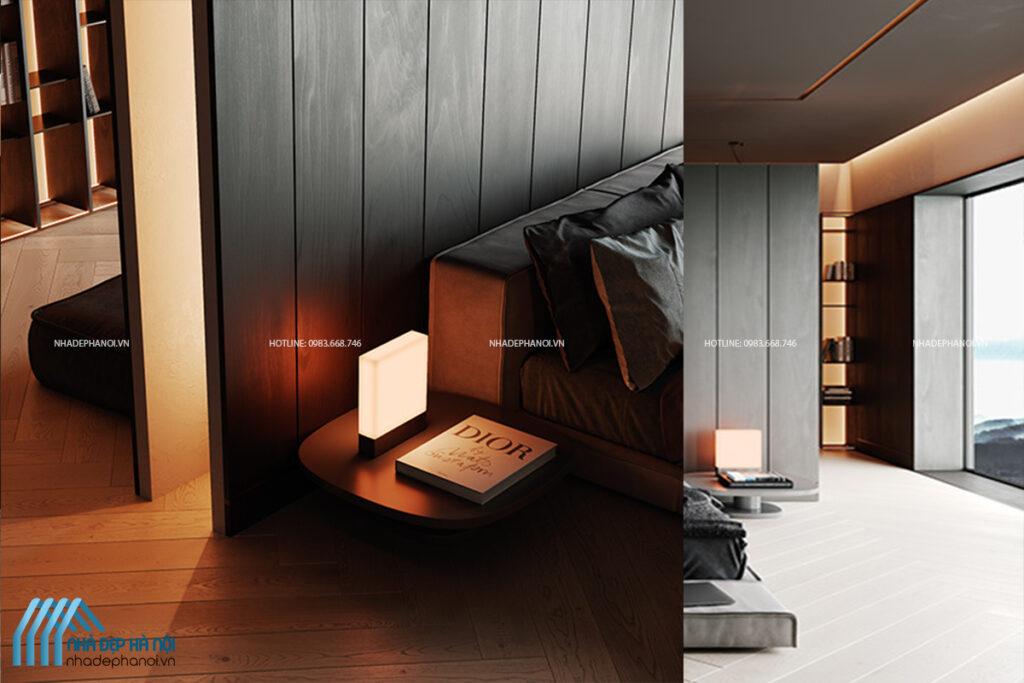 Mẫu thiết kế nội thất phòng ngủ đẹp cho nhà liền kề tại Dương Nội.