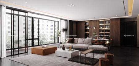 Thiết kế nội thất căn hộ The Legacy phong cách Rustic, hiện đại.