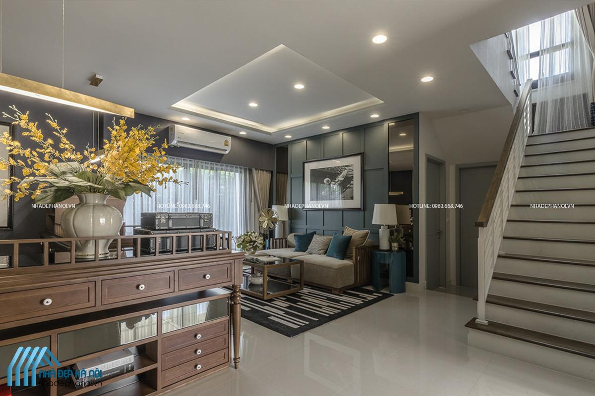 Thiết kế nội thất nhà phố đẹp sang trọng, ấn tượng tại Bắc Giang - anh Hùng.