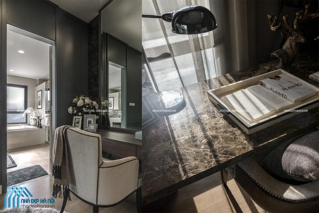 Thiết kế phòng ngủ master đẹp cho nhà phố tại Sun Grand City.