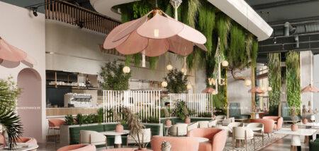 Không gian Tropical trong thiết kế nội thất nhà hàng của Nhà đẹp Hà Nội