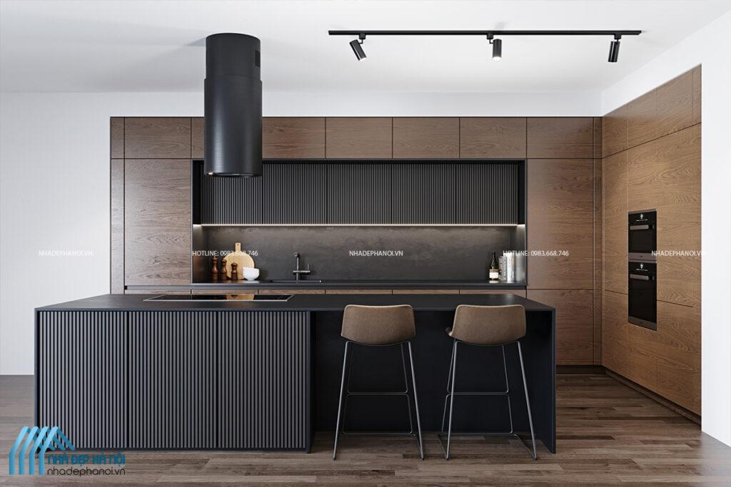 Mẫu thiết kế phòng bếp đẹp, hiện đại tại Tây Hồ - anh Hoàng.
