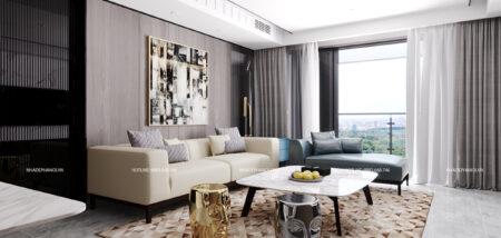 Mẫu thiết kế nội thất chung cư 60m2 HH1B Linh Đàm hiện đại, thông minh