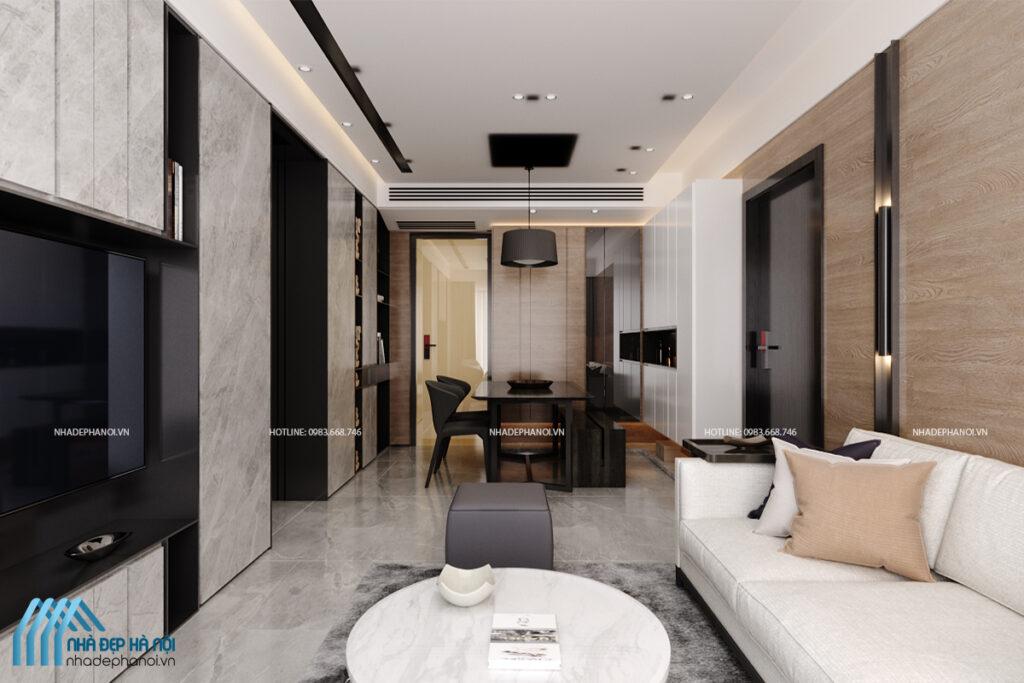 Thiết kế nội thất biệt thự tại Đông Anh, Hà Nội hiện đại, đầy đủ tiện nghi.