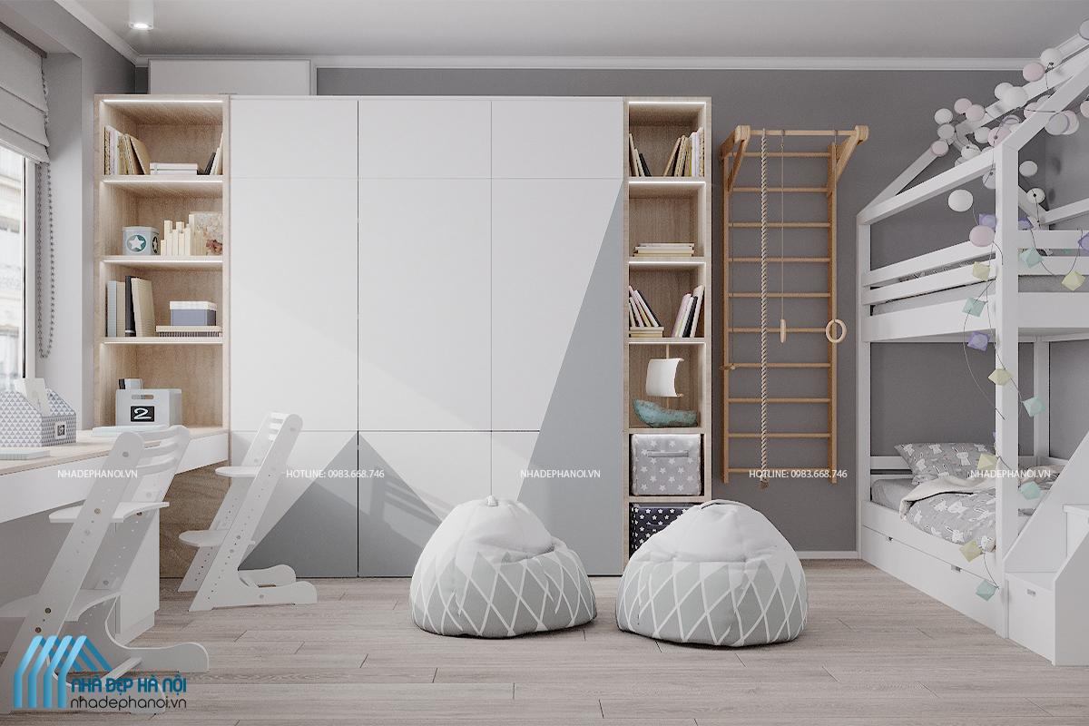 Các mẫu nội thất phòng ngủ cho bé trai hiện đại và năng động.