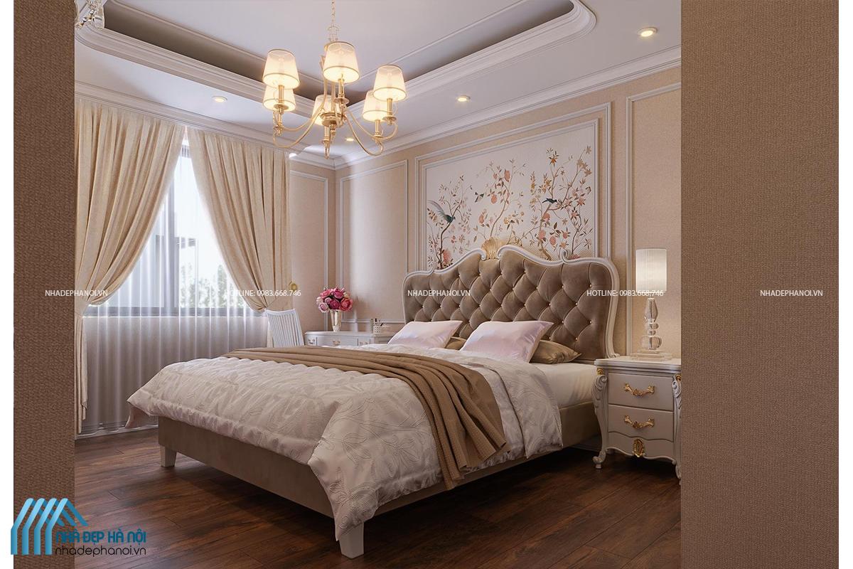 Điểm nổi bật của mẫu thiết kế nội thất phòng ngủ tân cổ điển.