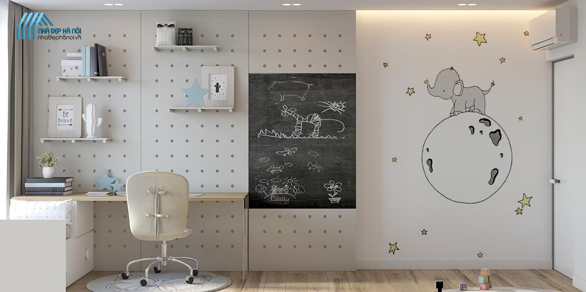 Thiết kế phòng bé trai hiện đại, năng động tại chung cư Vinaconex.