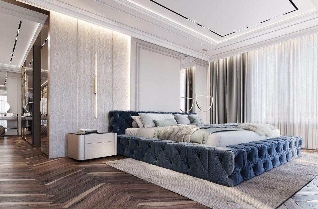 Thiết kế phòng ngủ nhà ống hiện đại, sang trọng tại Đại Mỗ, Nam Từ Liêm