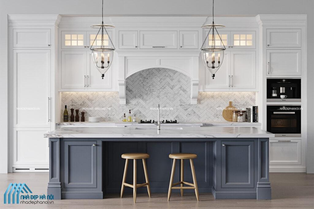 Thiết kế nội thất nhà bếp Goldmark City với phong cách Scandinavian.
