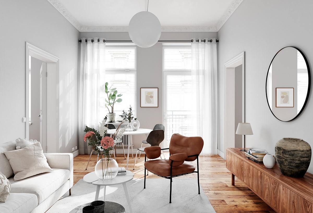 5 quy tắc thiết kế nội thất cơ bản đảm bảo tính thẩm mỹ cho căn hộ.