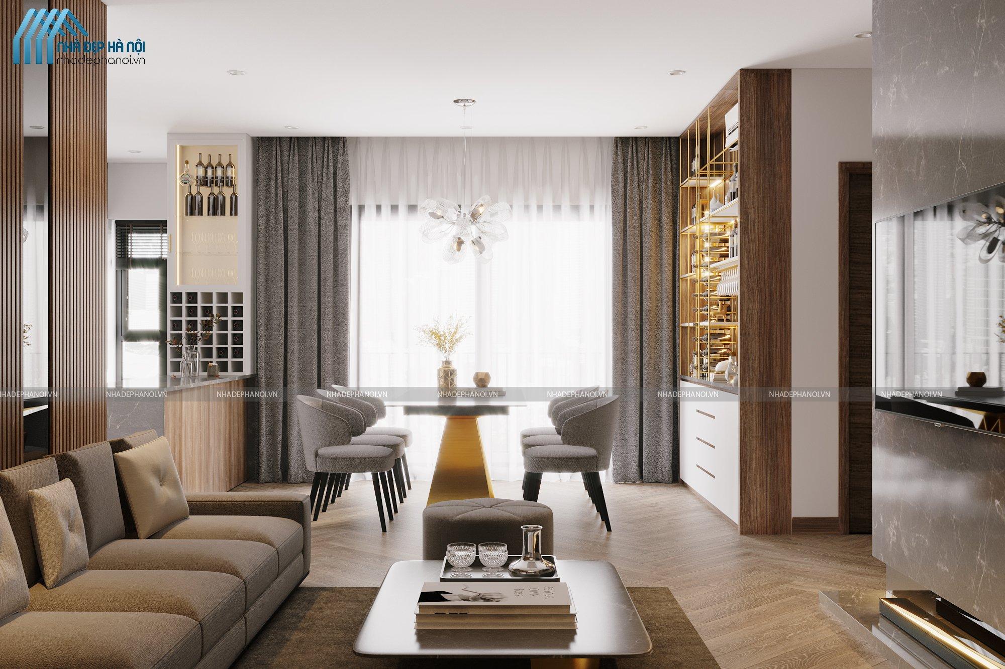 Thiết kế nội thất chung cư hiện đại cho căn hộ Vinhomes Smart City