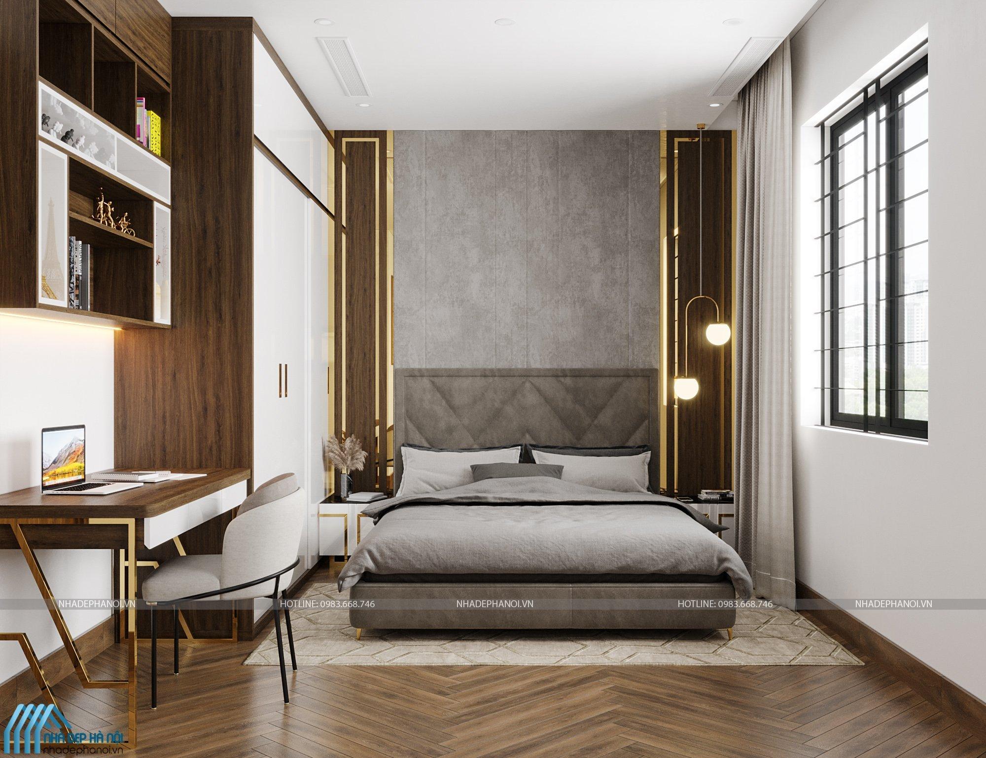 Mẫu thiết kế phòng ngủ sang trọng và hiện đại cho biệt thự tại Linh Đàm