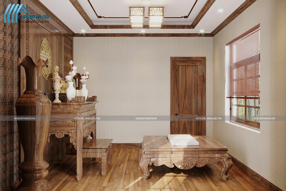 Thiết kế biệt thự tại Dương Nội với gỗ Óc Chó sang trọng, thượng lưu.