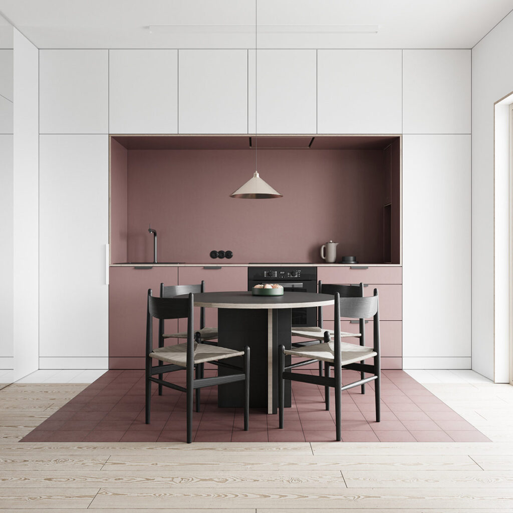 Color block style - luồng gió mới trong thiết kế nội thất.